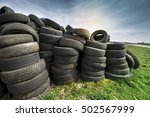 tires heap   used tyres on... | Shutterstock . vector #502567999