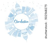 outline charleston skyline with ... | Shutterstock . vector #502568275