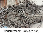 wire rope inactive posed the... | Shutterstock . vector #502575754