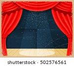 vintage cartoon theater.... | Shutterstock .eps vector #502576561