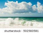 Atlantic Ocean. Waves. Sunny Day