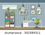 illustration of interior... | Shutterstock .eps vector #502589311
