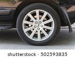 Small photo of Saint-Petersburg, Russia - May 15, 2016: Range rover car details, modern automotive wheel on light alloy disc