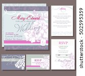 set of wedding cards or... | Shutterstock .eps vector #502595359