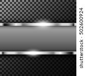 metallic chrome banner with... | Shutterstock .eps vector #502600924