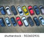 empty parking lots  aerial view. | Shutterstock . vector #502602931