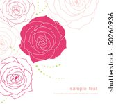 beautiful floral background | Shutterstock .eps vector #50260936