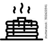pancake icon | Shutterstock .eps vector #502623541