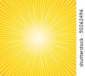beautiful summer sunburst.... | Shutterstock .eps vector #50262496