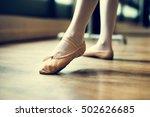 ballerina dancing ballet school ... | Shutterstock . vector #502626685
