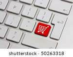 Red Retail Shopping Cart Icon...