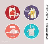 funny motives in stickers set... | Shutterstock .eps vector #502642819