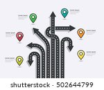arrow road map of  business and ... | Shutterstock .eps vector #502644799