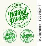 vegan 100  natural product...   Shutterstock .eps vector #502646047