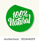 100  natural vector lettering... | Shutterstock .eps vector #502646059