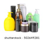 set of body care products... | Shutterstock . vector #502649281