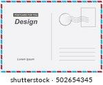 vector postcard. postal card...   Shutterstock .eps vector #502654345