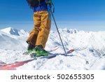 Freeride Skier On The Top Of...