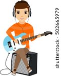 the concept of a young man... | Shutterstock .eps vector #502665979
