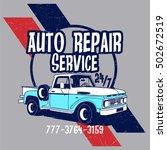 auto repair service vector t... | Shutterstock .eps vector #502672519