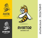 aerobatic club logo  emblem.... | Shutterstock .eps vector #502676845