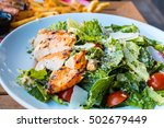 chicken salad. chicken caesar... | Shutterstock . vector #502679449