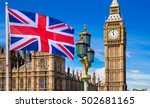 house of parliament and british ... | Shutterstock . vector #502681165