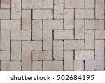 Pattern Of Brick Block On...