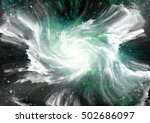 stars of a planet and galaxy in ... | Shutterstock . vector #502686097