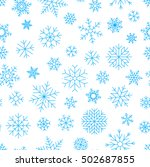 snowflake seamless background | Shutterstock .eps vector #502687855