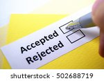 Small photo of Accepted or Rejected? Accepted.
