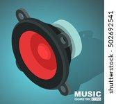 speaker icon. isometric   Shutterstock .eps vector #502692541