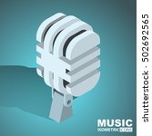 microphone icon. isometric