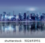 night city background. urban... | Shutterstock . vector #502693951