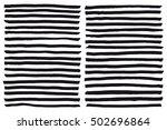 black highlight stripes  brush... | Shutterstock .eps vector #502696864