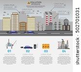 ecology infographic vector... | Shutterstock .eps vector #502701031