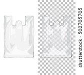 disposable t shirt plastic bags ... | Shutterstock . vector #502705705