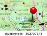 auburn pinned on a map of...   Shutterstock . vector #502707145