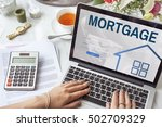 mortgage property login page... | Shutterstock . vector #502709329