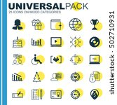 set of 25 universal editable... | Shutterstock .eps vector #502710931
