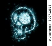sparkles skulls halloween | Shutterstock . vector #502712515