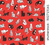 cats pattern | Shutterstock .eps vector #502715161