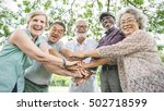 group of senior retirement... | Shutterstock . vector #502718599