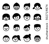 smiley face   happy face icons. ... | Shutterstock .eps vector #502719874