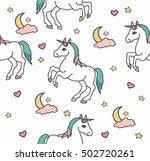unicorns seamless pattern.... | Shutterstock .eps vector #502720261