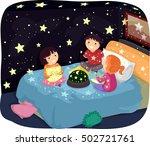 whimsical illustration of... | Shutterstock .eps vector #502721761