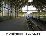 Railroad Station Platform In...