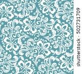 floral pattern. wallpaper...   Shutterstock .eps vector #502731709