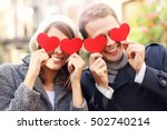 picture of happy couple... | Shutterstock . vector #502740214