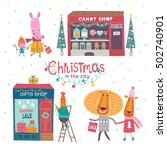 christmas in the city. part 2.... | Shutterstock .eps vector #502740901